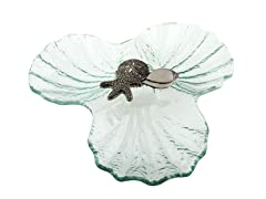 Thirstystone Condiment Dish w/Sea Shells-Clear