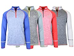 Men's Wicking 1/4 Zip Pullover 4-Pack