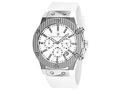 Christian Van Sant Rubber Strap Watch