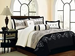 Lilly 7pc Comforter Set - Taupe - 2 Sizes