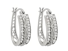 1/2cttw Diamond Hoops