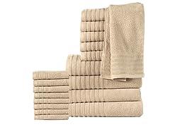18-Piece 100% Cotton 600GSM Towel Set