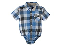 Blue Plaid Infant Shirtzie (3 - 24M)