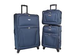 World Traveler Embarque Lightweight 3-Piece Spinner Luggage Set