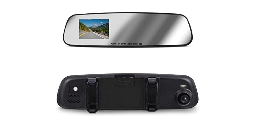 Aduro MirrorCam Rear View Mirror with Front Video Camcorder | WOOT