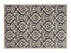 Charcoal/Ivory Griffin Floral Rug (5-Sizes)