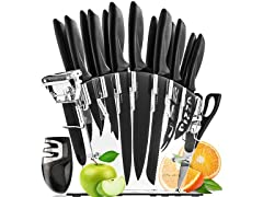 17-Piece Stainless Steel Knife Set