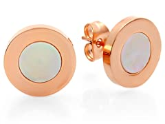 18kt Rose Gold Plated MOP Studs