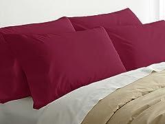 2pk Quilted Pillows w/4 Bonus Cases-Plum
