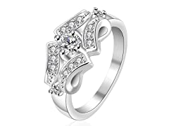 Sterling Silver Quad Jewels Petite Ring