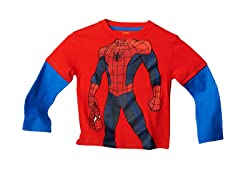 Spiderman Long Sleeve Tee - Red (2T-3T)