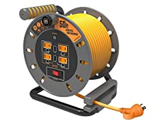 MasterPlug 50' Extension Cord Reel with USB