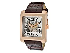 Men's Silver Dial / Brown Leather