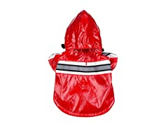 Red Reflecta Glow Raincoat