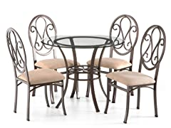 Lucianna Dining Table w/Glass Top