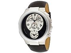 Men's White & Black Dial Chronograph