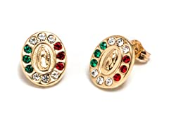 14K Gold Guadalupe Stud Earring