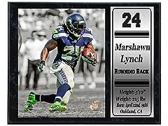 12x15 Stat Plaque - M. Lynch Seahawks