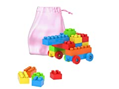 Building Blocks-Classic Set with Storage Bag (90 Piece)