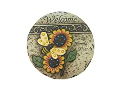 "9.5"" Sunflower Welcome Stone"