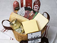 Basket of Meat and Cheese Favorites