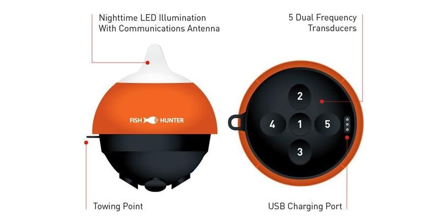 fishhunter directonal 3d portable fish finder bundle TM, Steensma