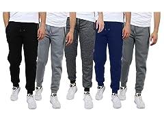 Mens 3PK ASST Skinny Slim Fit Joggers