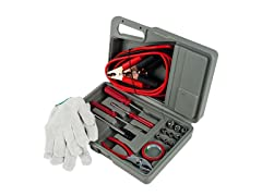 Stalwart Roadside Emergency Tool and Auto Kit - 30 Pieces