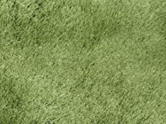 Green Silky Shag Plain (2 Sizes)