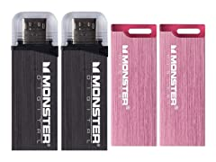 Monster Digital USB 3.0 Flash Drive 4-Packs