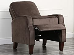 Brently Pushback Recliner, Dk Brown