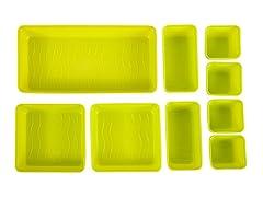 9pc Drawer Organizer-Lime