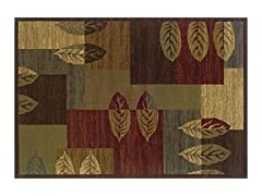 Madison Leaf Block Area Rug (4 Sizes)