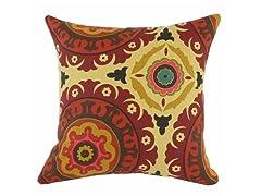 Solar Flair Henna 17X17 Pillow