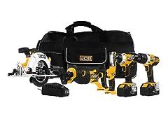 JCB 5 or 6 Piece 20V Power Tool Kit