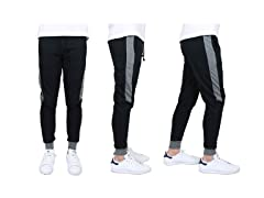 Mens Slim-Fit French Terry Jogger w Contrast Side Stripe