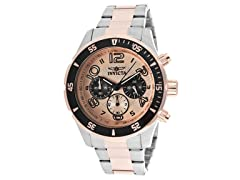 Invicta Men's Chronograph, Gold/Silver