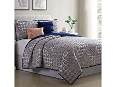 Printed Quilt Set (5-Piece)