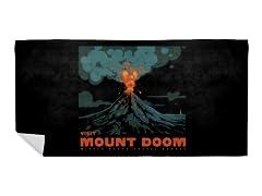 Visit Mount Doom Beach Towel