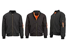 Mens Heavy Weight Flight Bomber Jacket