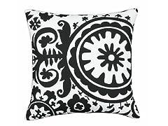 Suzani Black & White 17x17 Pillow