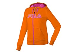 Fila Performance Hoody - Orange/Pink