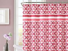 Pinwheel Embossed Shower Curtain