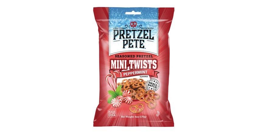 Pretzel Pete Peppermint Seasoned Mini Twists, 12 Count   WOOT