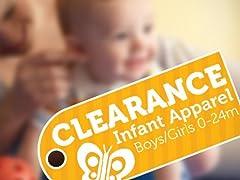 Apparel Clearance Infants (0-24M)