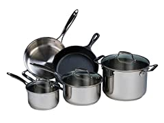 Lodge  8-Piece Set: Stainless Steel & Cast Iron