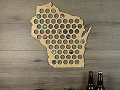 Beer Cap Map: Wisconsin
