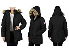 Women Heavyweight Long Parka W Fur Hood