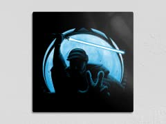 """""""Lightsiders: Exiled General"""" 12"""" x 12"""" Metal Poster"""