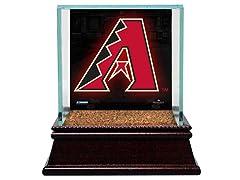 Glass Baseball Case w/ Game-Used Dirt